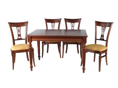 Обеденный стол и стулья из массива дерева  магазине